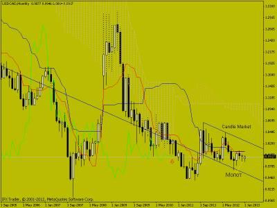 Свечной анализ USD/CAD на 21.01.2013 г.