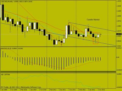 Свечной анализ USD/CAD на 10.11.2012 г.